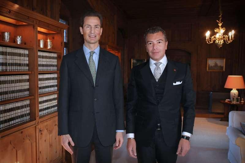 L'incontro tra l'ambasciatore Dario Item e il Principe del Liechtenstein