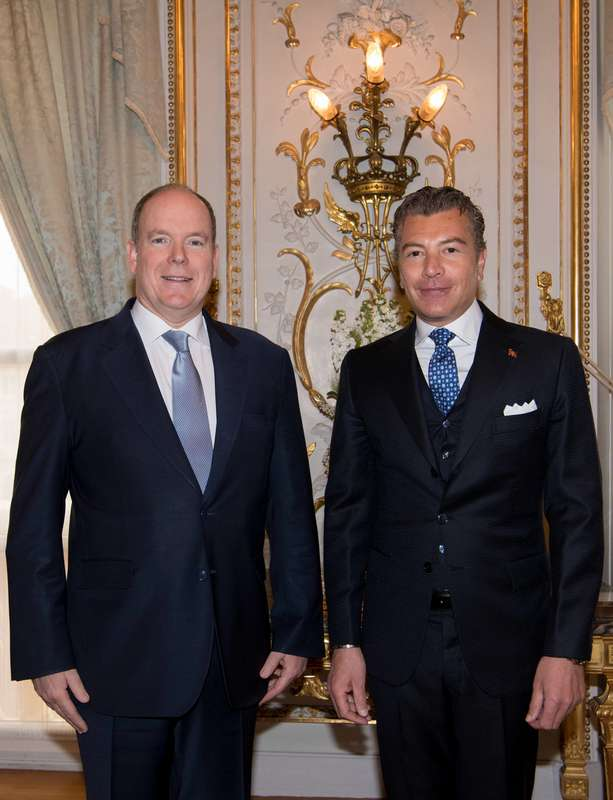 Ambassador Dario Item presents Credentials to Prince Albert II of Monaco