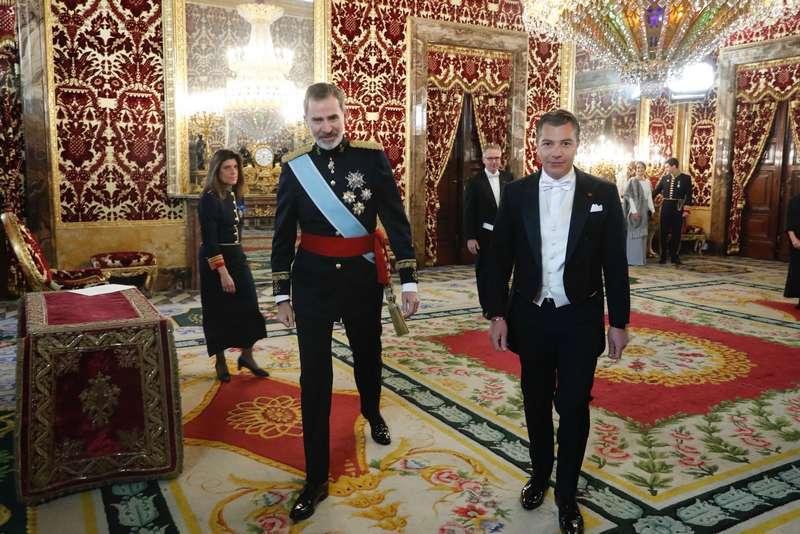 H.E. Dr. Dario Item presents credentials to the King of Spain Felipe VI