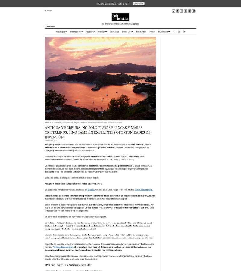 Antigua Y Barbuda: No Solo Playas Blancas Y Mares Cristalinos, Sino También Excelentes Oportunidades De Inversión